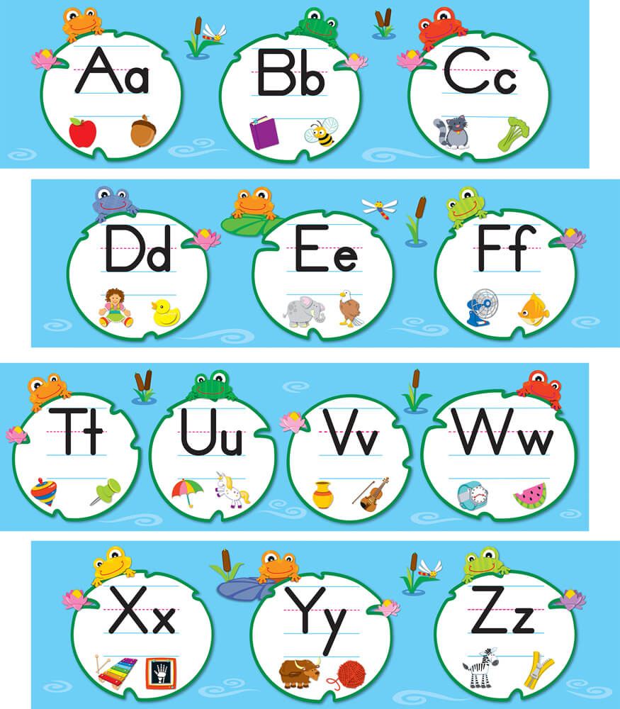 FUNky Frogs Alphabet Mini Bulletin Board Set Product Image
