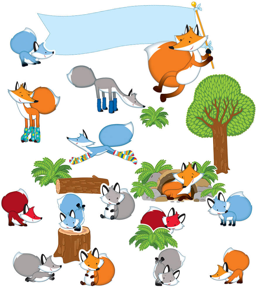 Playful Foxes Bulletin Board Set Product Image