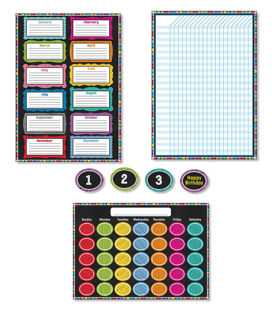 Colorful Chalkboard Bulletin Board Set Product Image