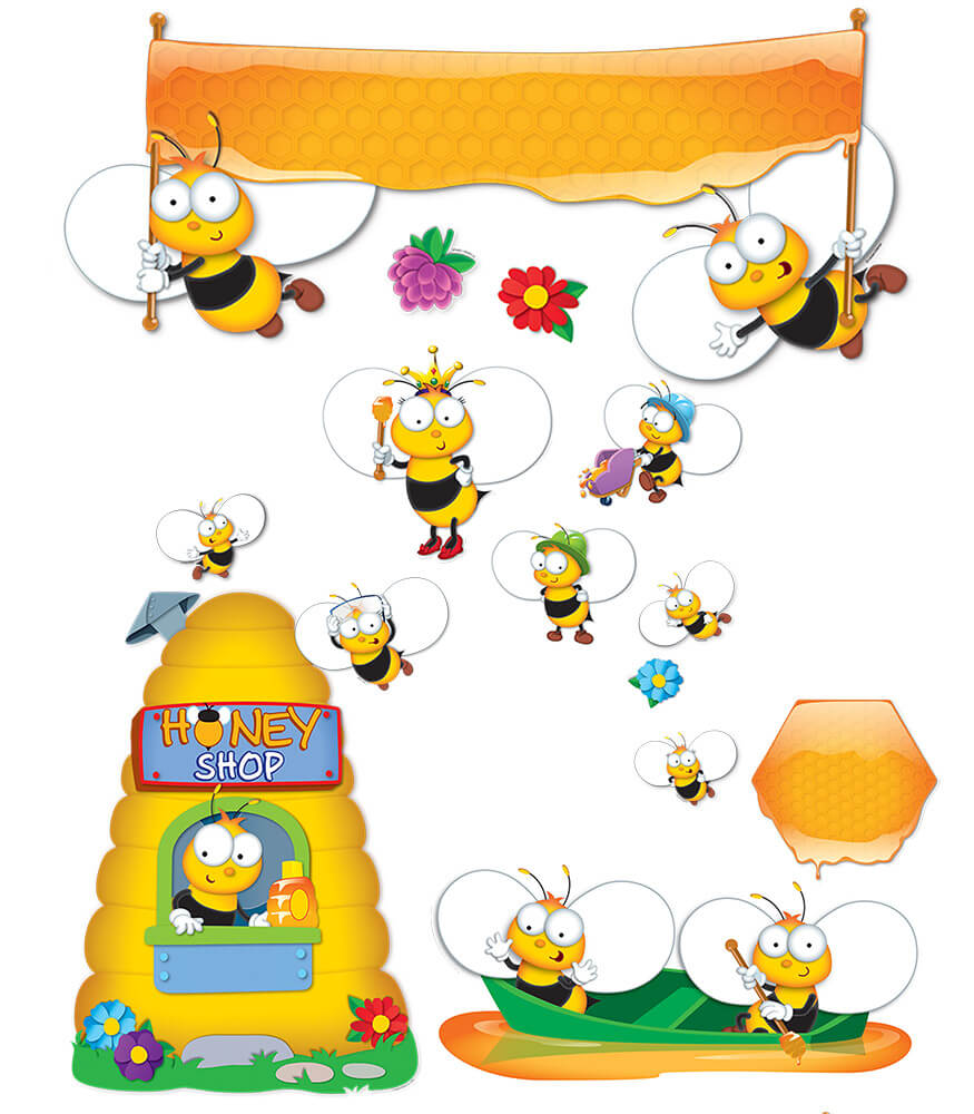 Buzz–Worthy Bees Bulletin Board Set Product Image