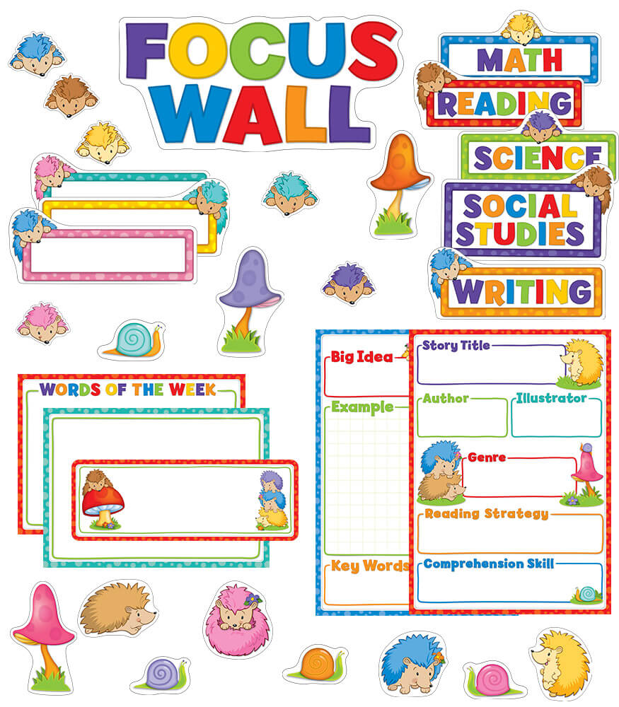 Happy Hedgehogs Focus Wall Bulletin Board Set Product Image