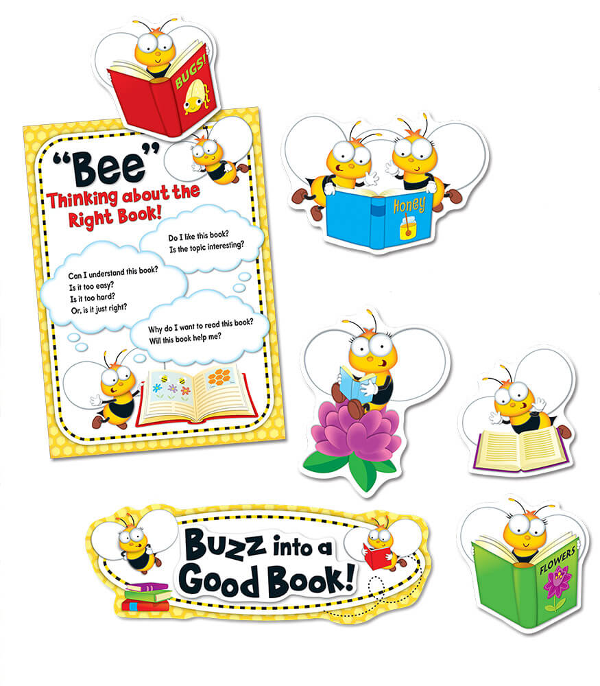 Buzz–Worthy Bees Reading Bulletin Board Set Product Image
