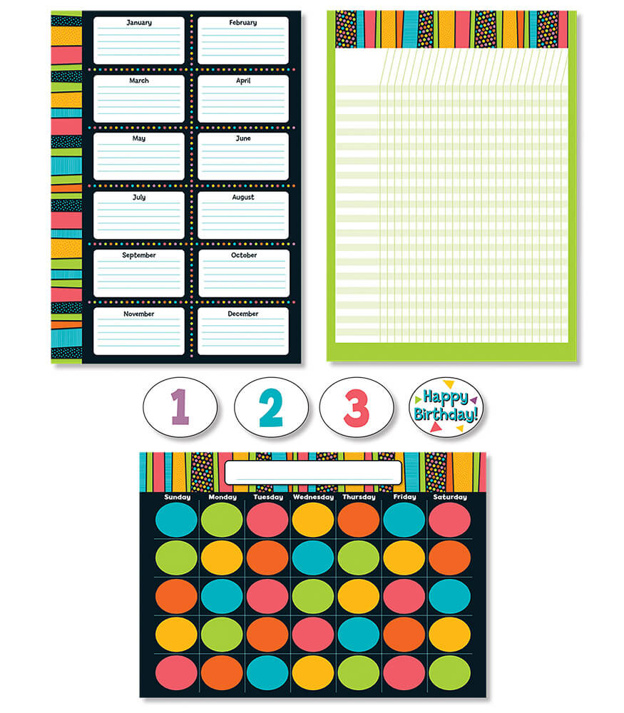 Stylin' Stripes Bulletin Board Set Product Image