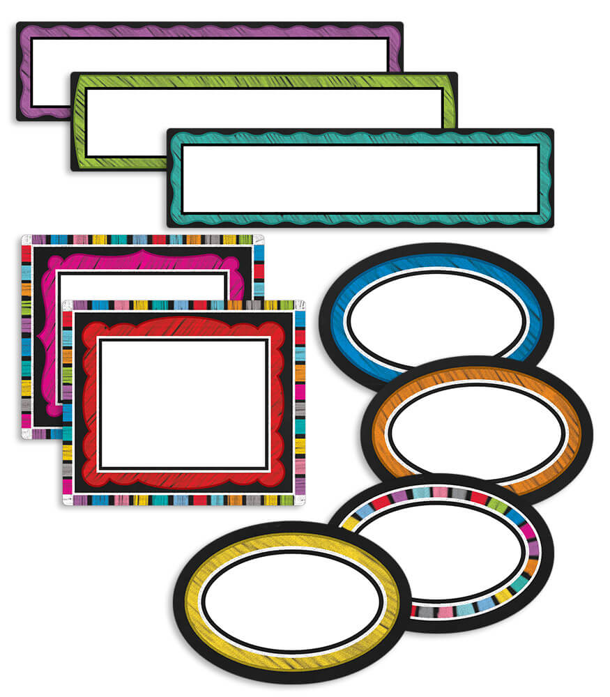Colorful Chalkboard Classroom Management Mini Bulletin Board Set Product Image