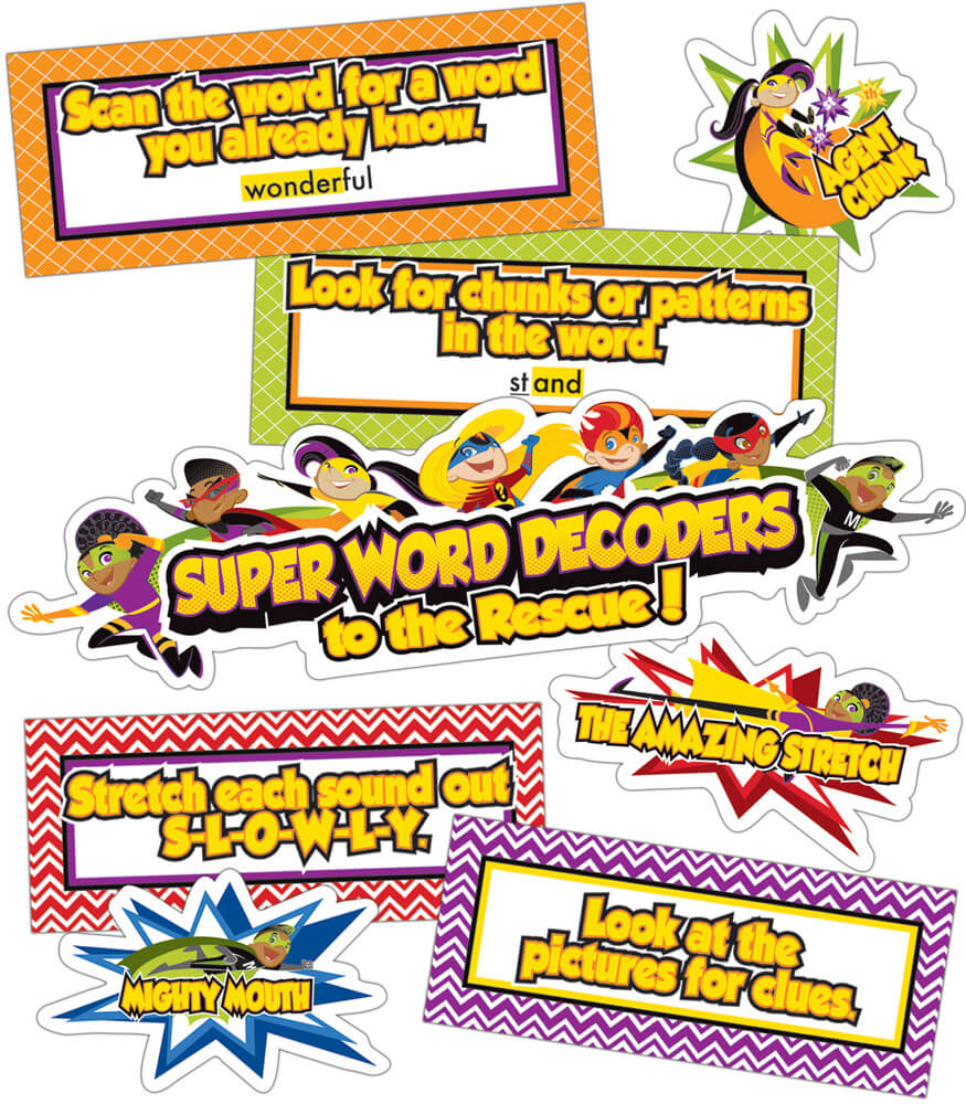 Super Power Decoding Words Mini Bulletin Board Set Product Image