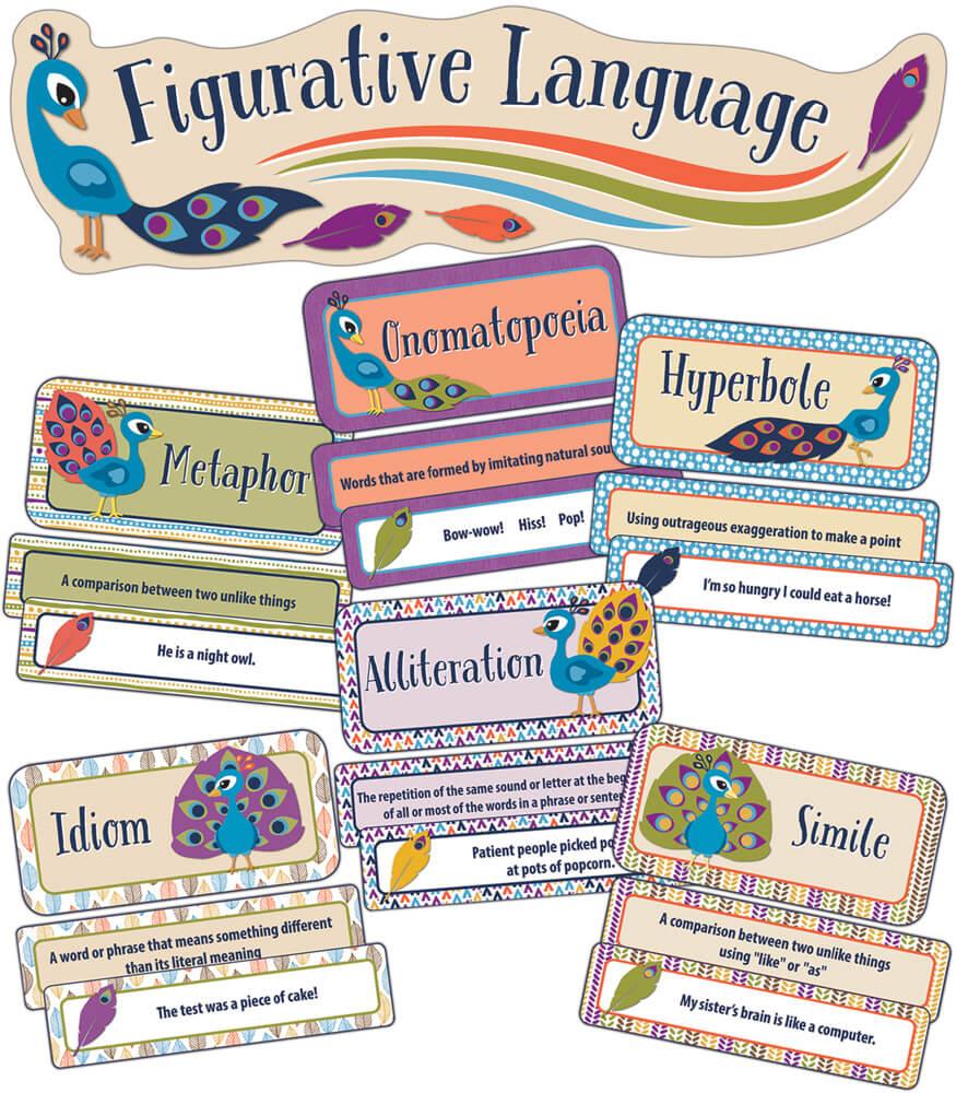 You-Nique Figurative Language Mini Bulletin Board Set Product Image