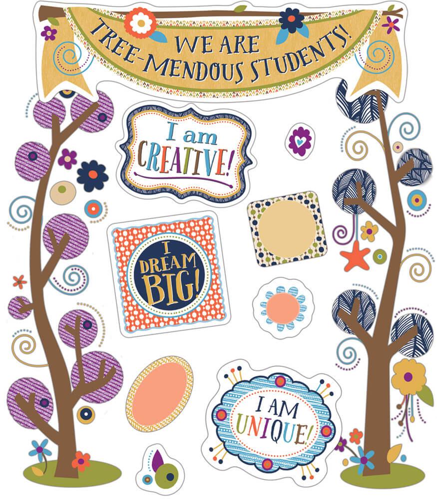 You-Nique Tree-Mendous Students Mini Bulletin Board Set Product Image