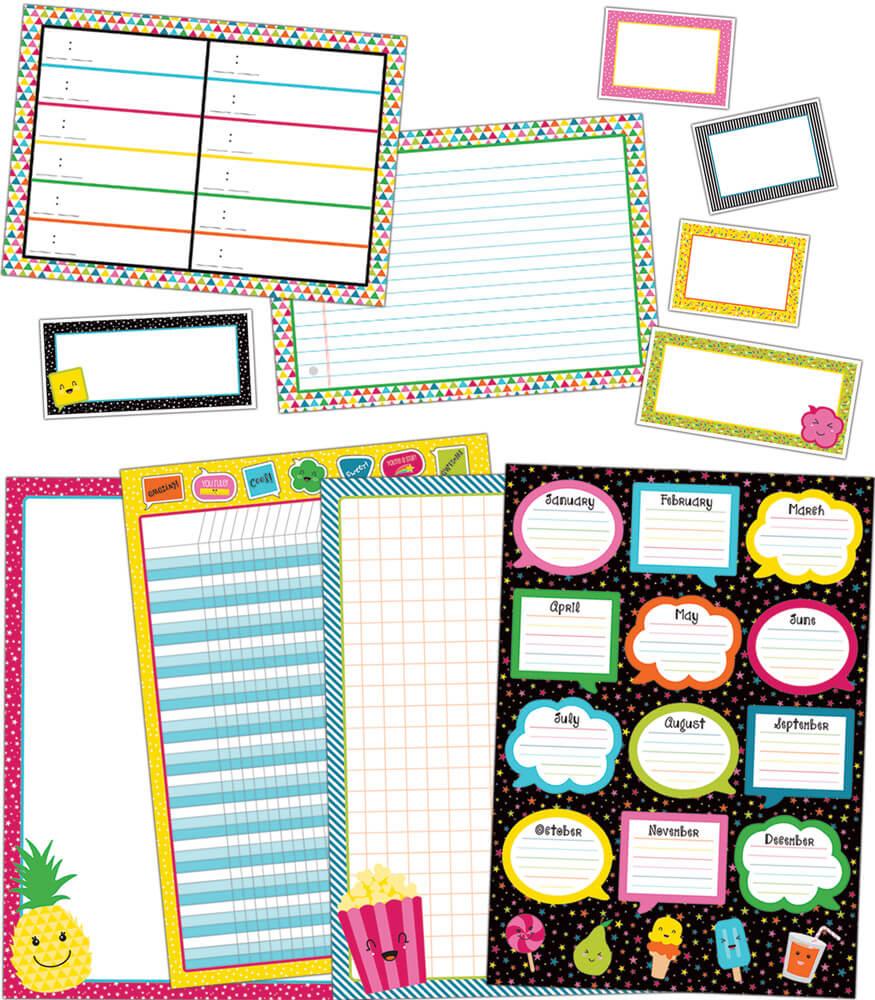 School Pop Classroom Organizers Bulletin Board Set Product Image