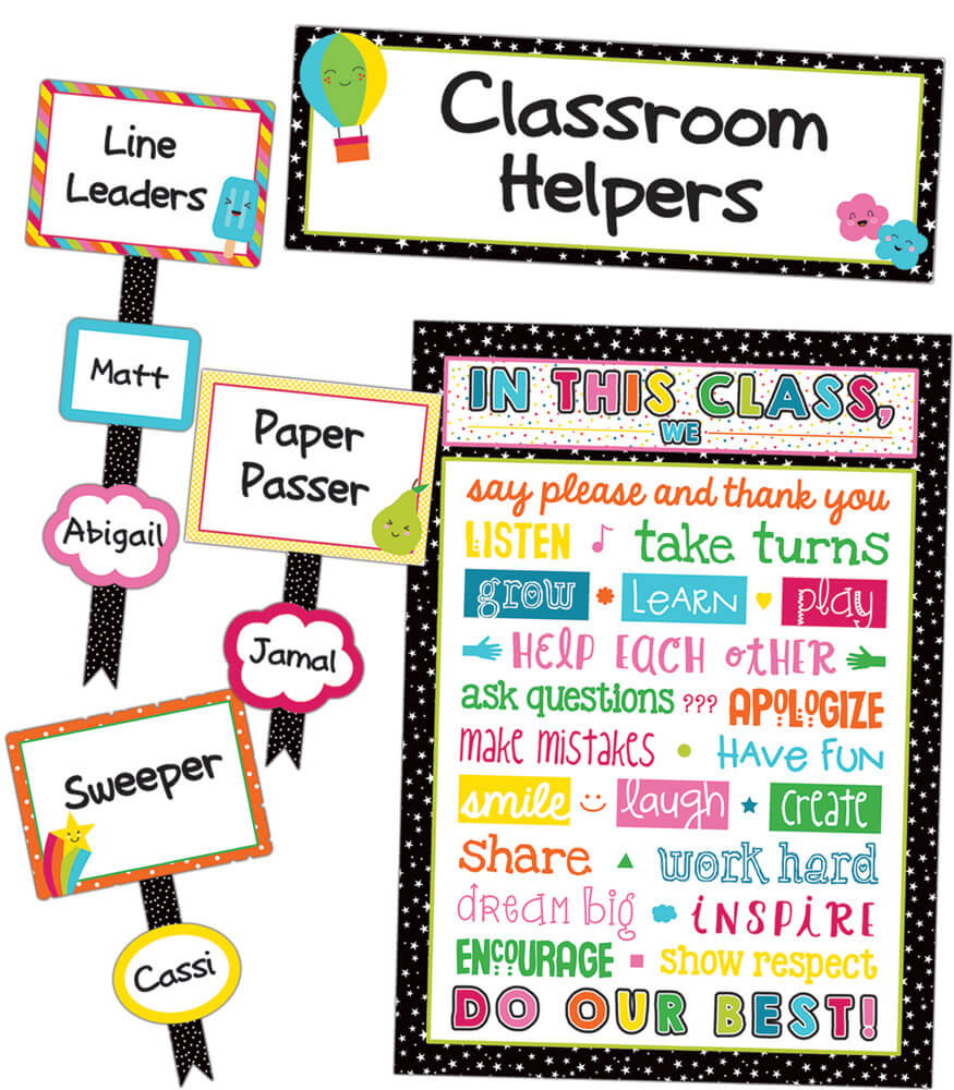 Classroom Design Jobs ~ School pop classroom management bulletin board set
