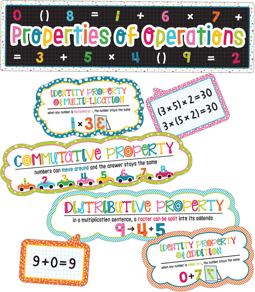 School Pop Properties of Operations Mini Bulletin Board Set Product Image