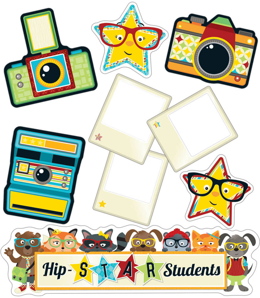 Hipster Hip-STAR Students Mini Bulletin Board Set Product Image