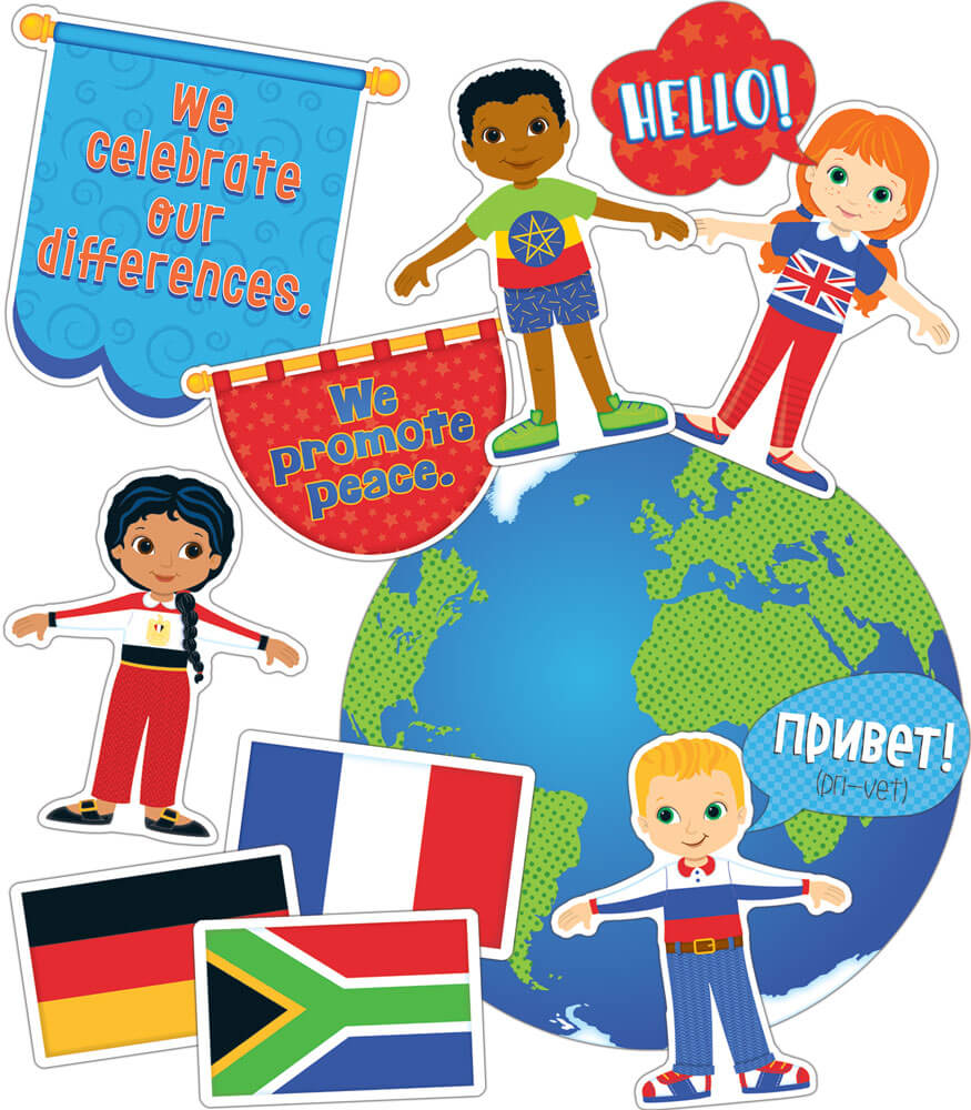 We Are Global Citizens Bulletin Board Set Product Image