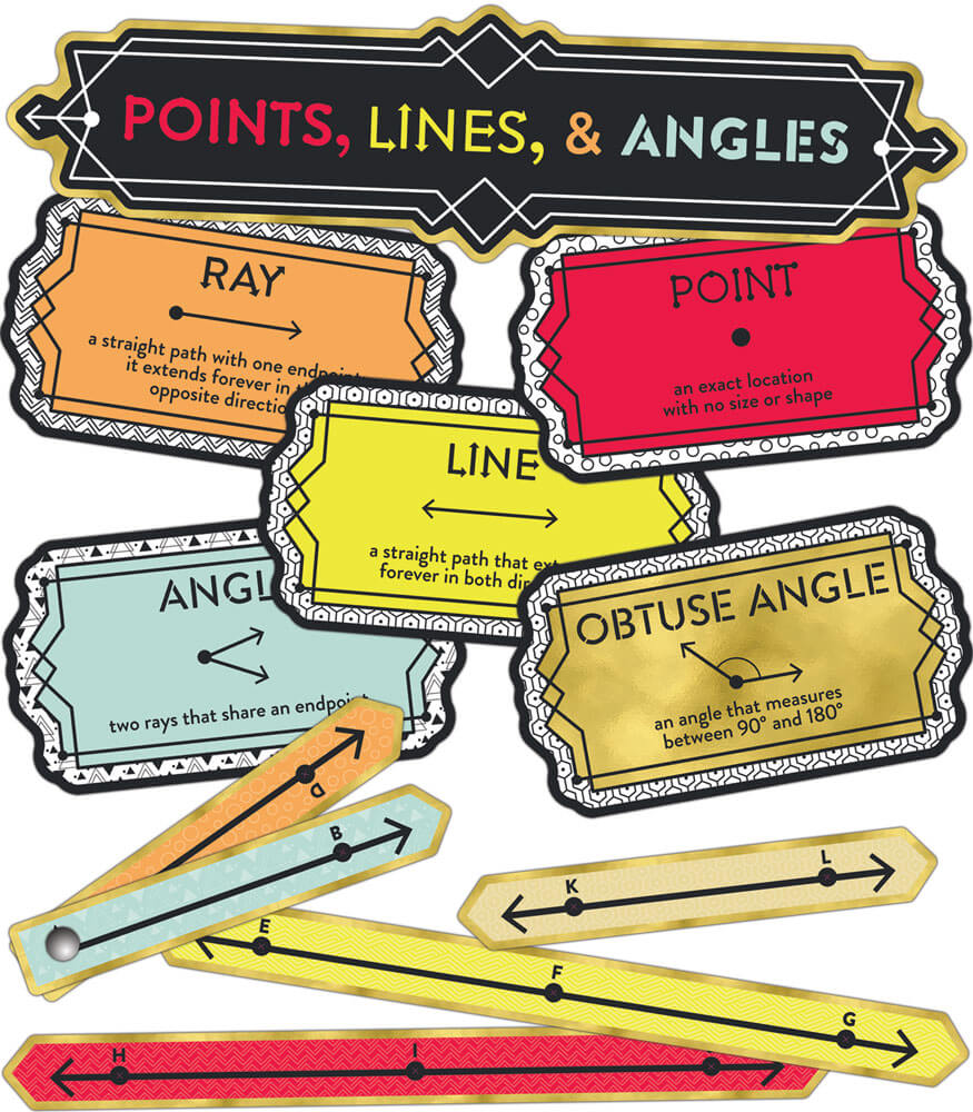 Points, Lines, and Angles Mini Bulletin Board Set Product Image