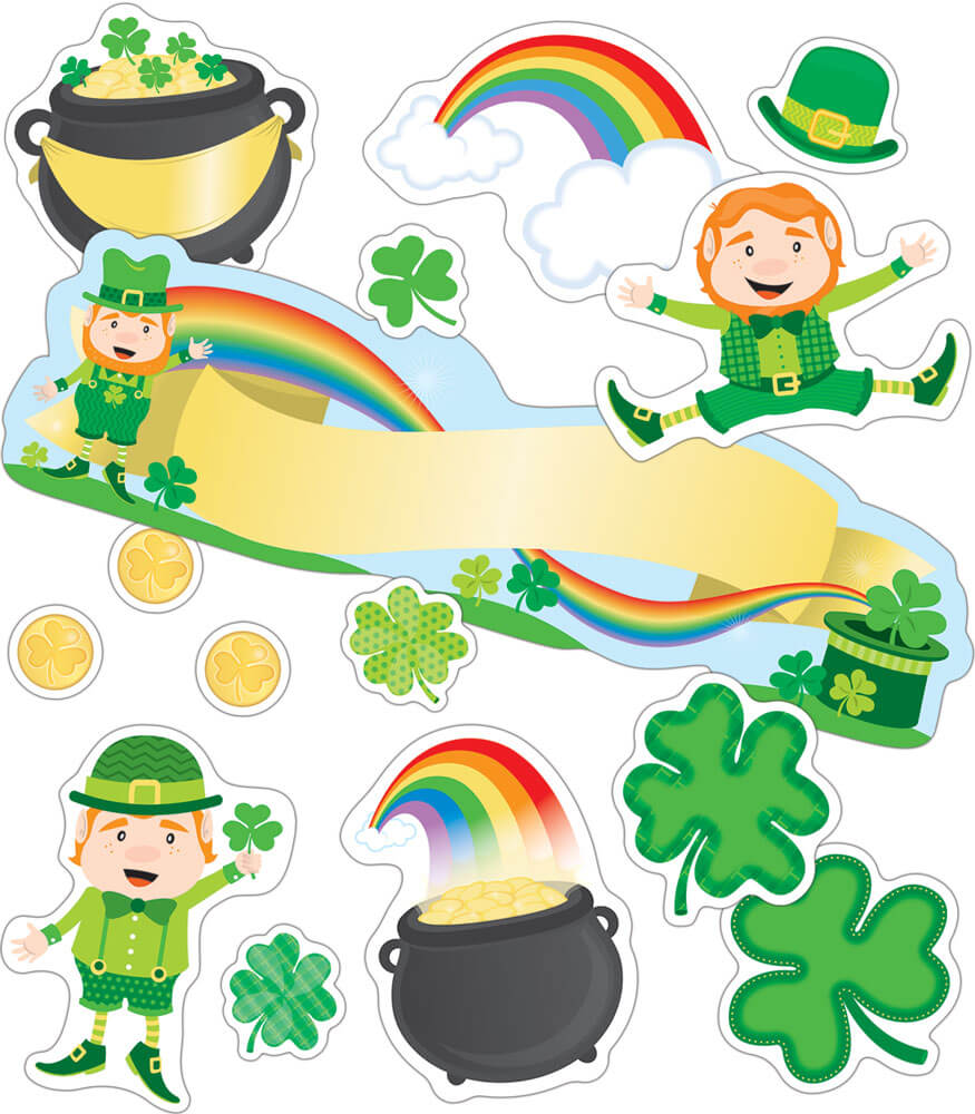 St. Patrick's Day Mini Bulletin Board Set Product Image