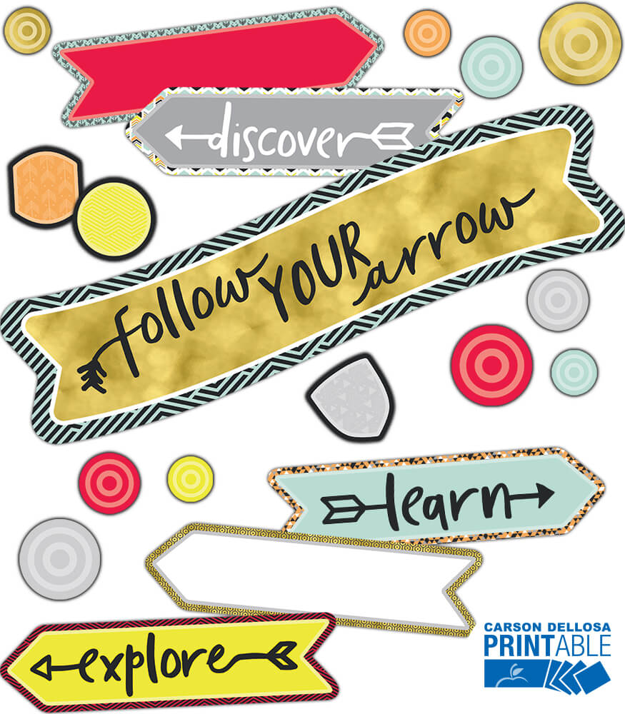 Follow Your Arrow Printable Bulletin Board Set Product Image