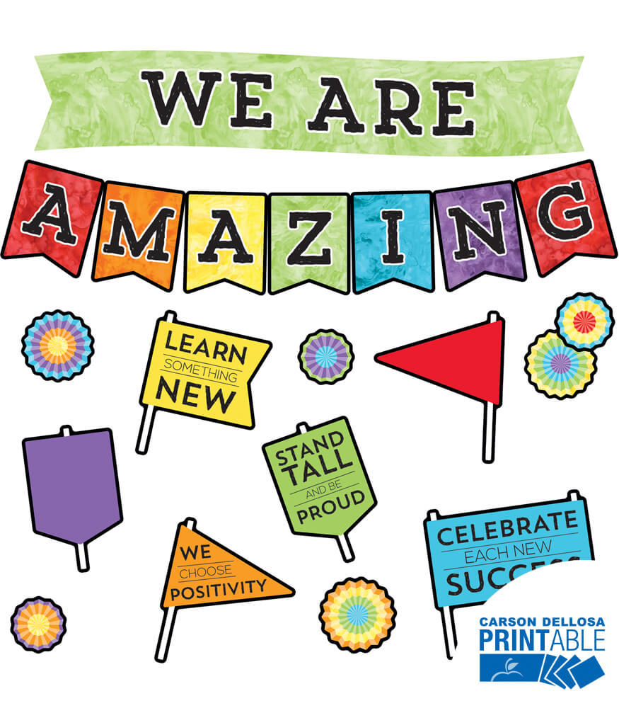We Are Amazing Printable Bulletin Board Set Product Image