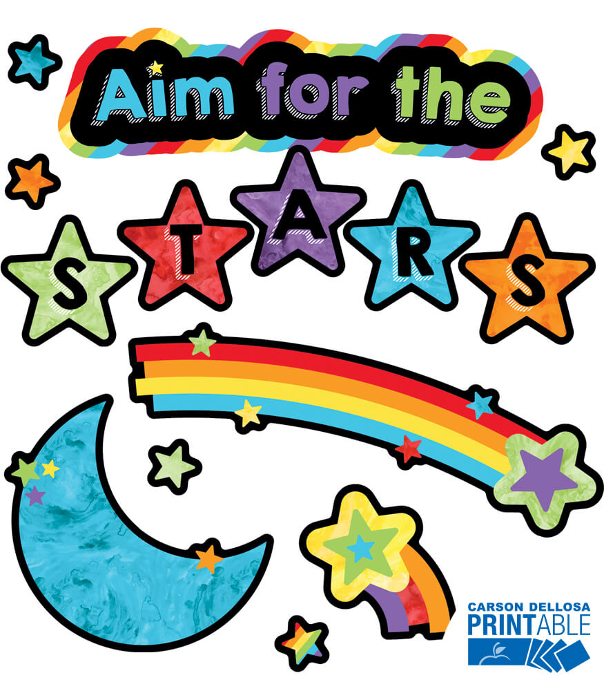Aim for the Stars Printable Bulletin Board Set Product Image