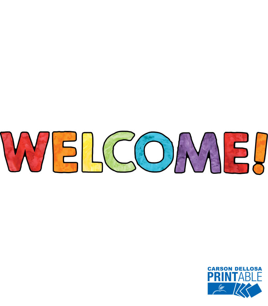 Celebrate Learning Welcome Printable Bulletin Board Set Product Image