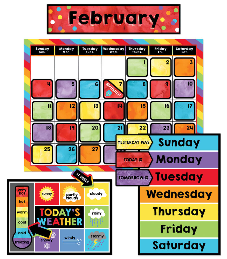 Celebrate Learning Calendar Bulletin Board Set Product Image