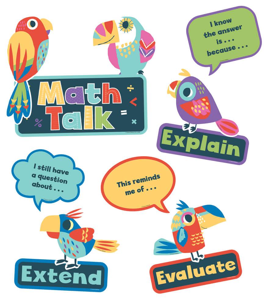Math Talk Mini Bulletin Board Set Product Image