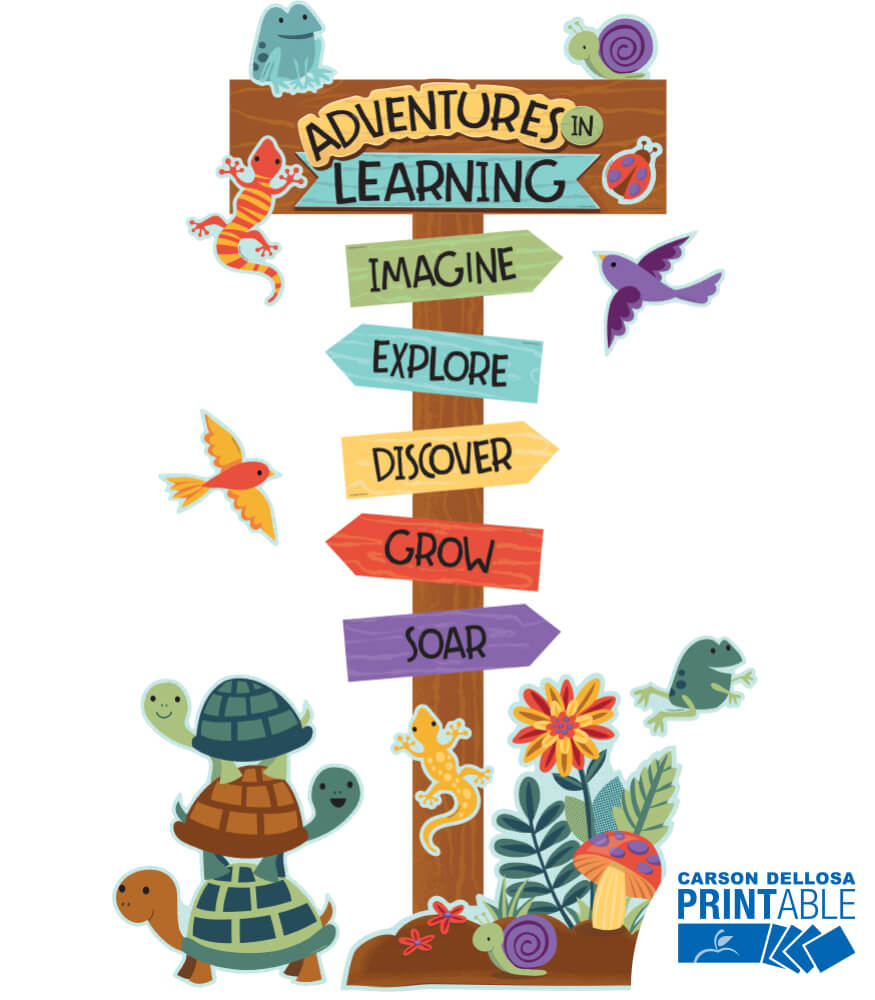 Adventures in Learning Printable Bulletin Board Set Product Image