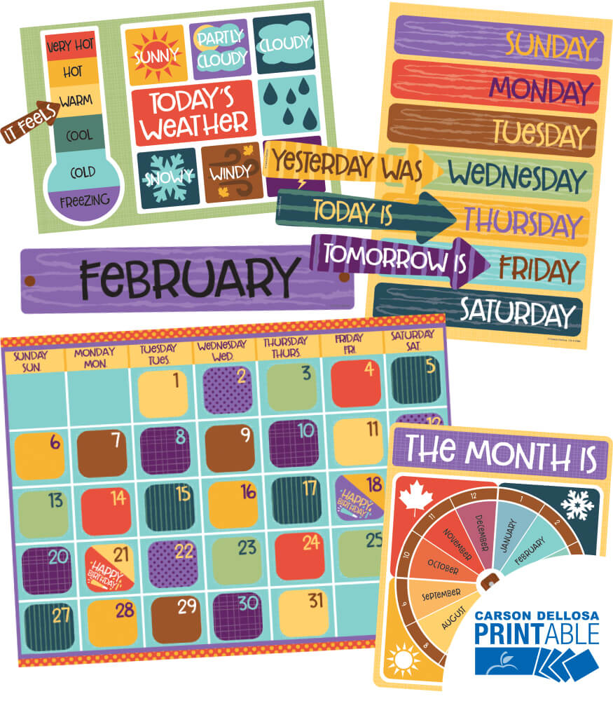 Calendar Printable Bulletin Board Set Product Image