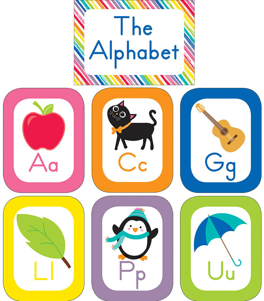 Just Teach Alphabet Cards Bulletin Board Set