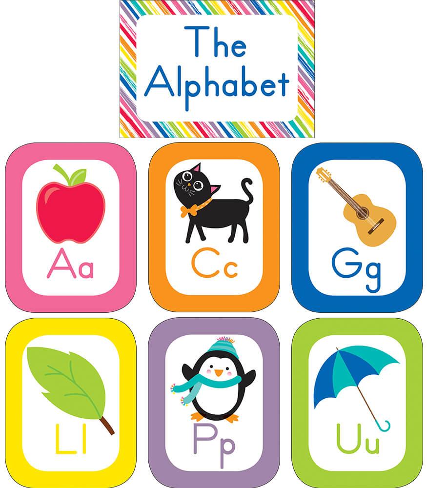 Just Teach Alphabet Cards Bulletin Board Set Product Image