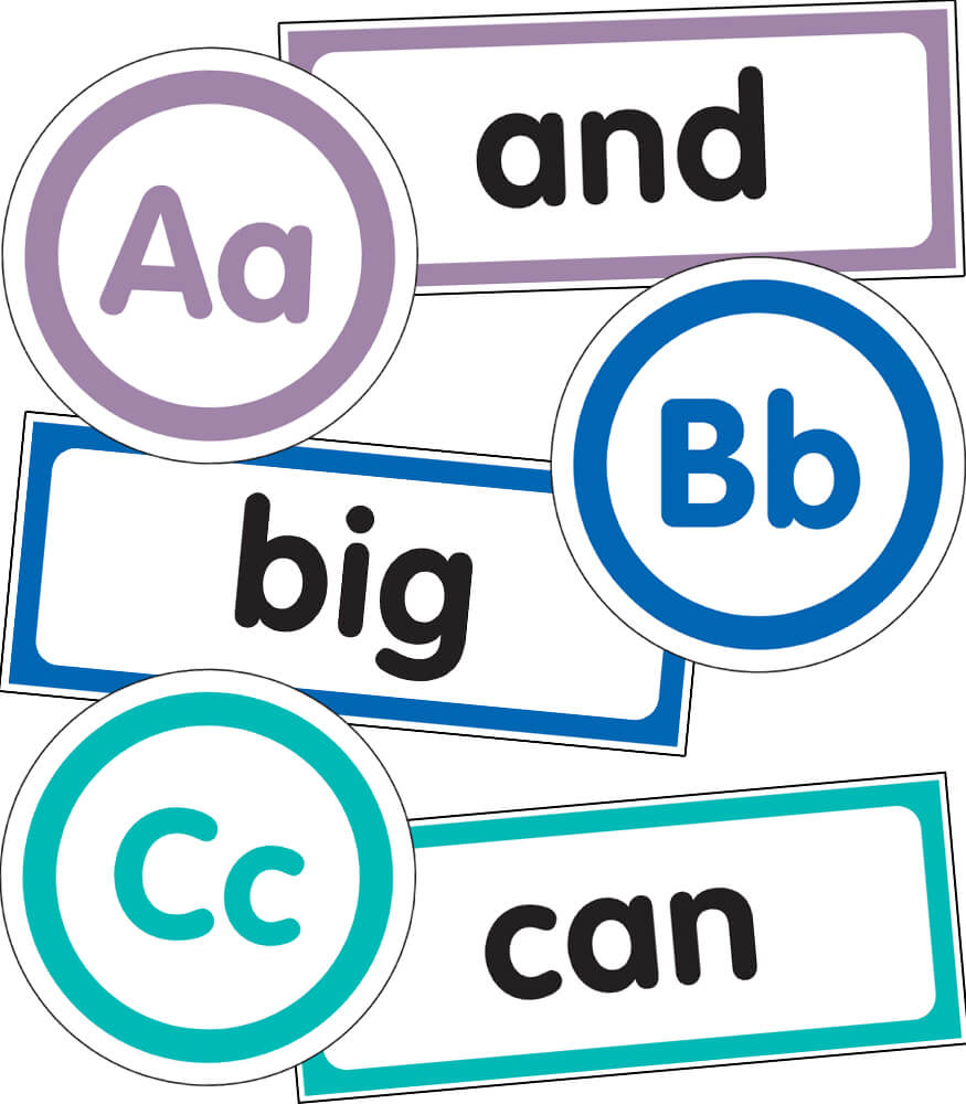Just Teach Word Wall Bulletin Board Set Product Image