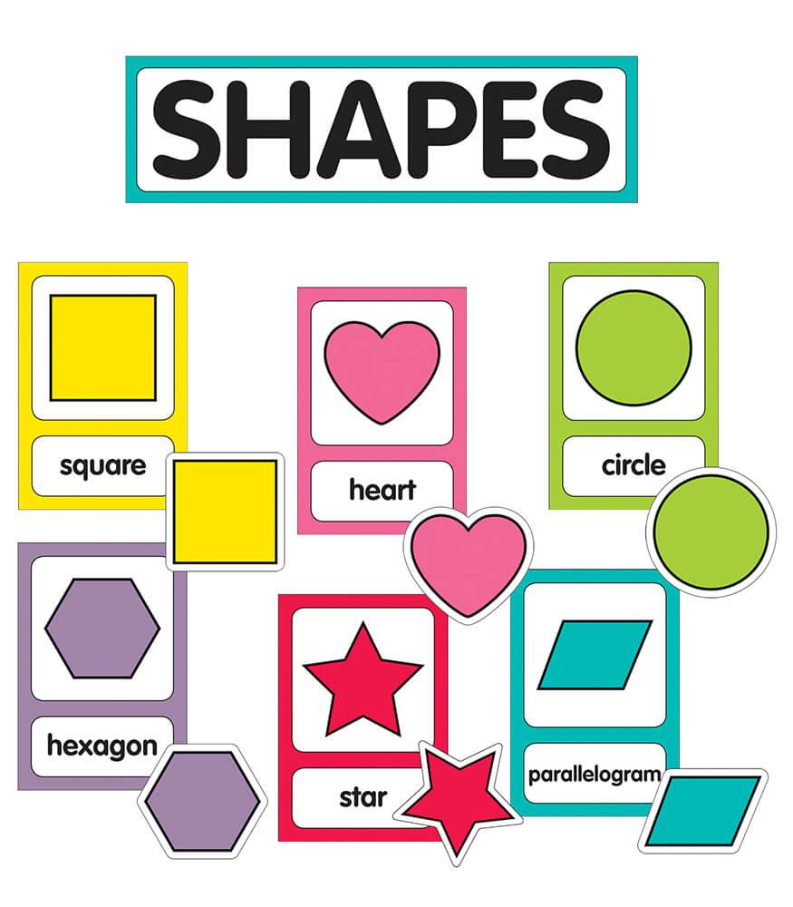 Just Teach Shape Cards Mini Bulletin Board Set Product Image