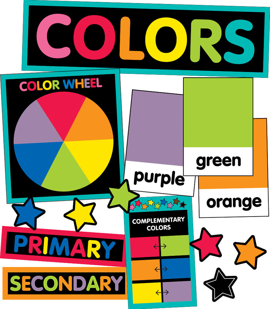 Just Teach Color Cards Mini Bulletin Board Set Product Image