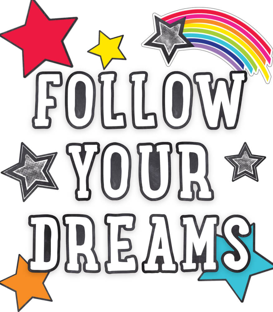 Follow Your Dreams Bulletin Board Set Product Image