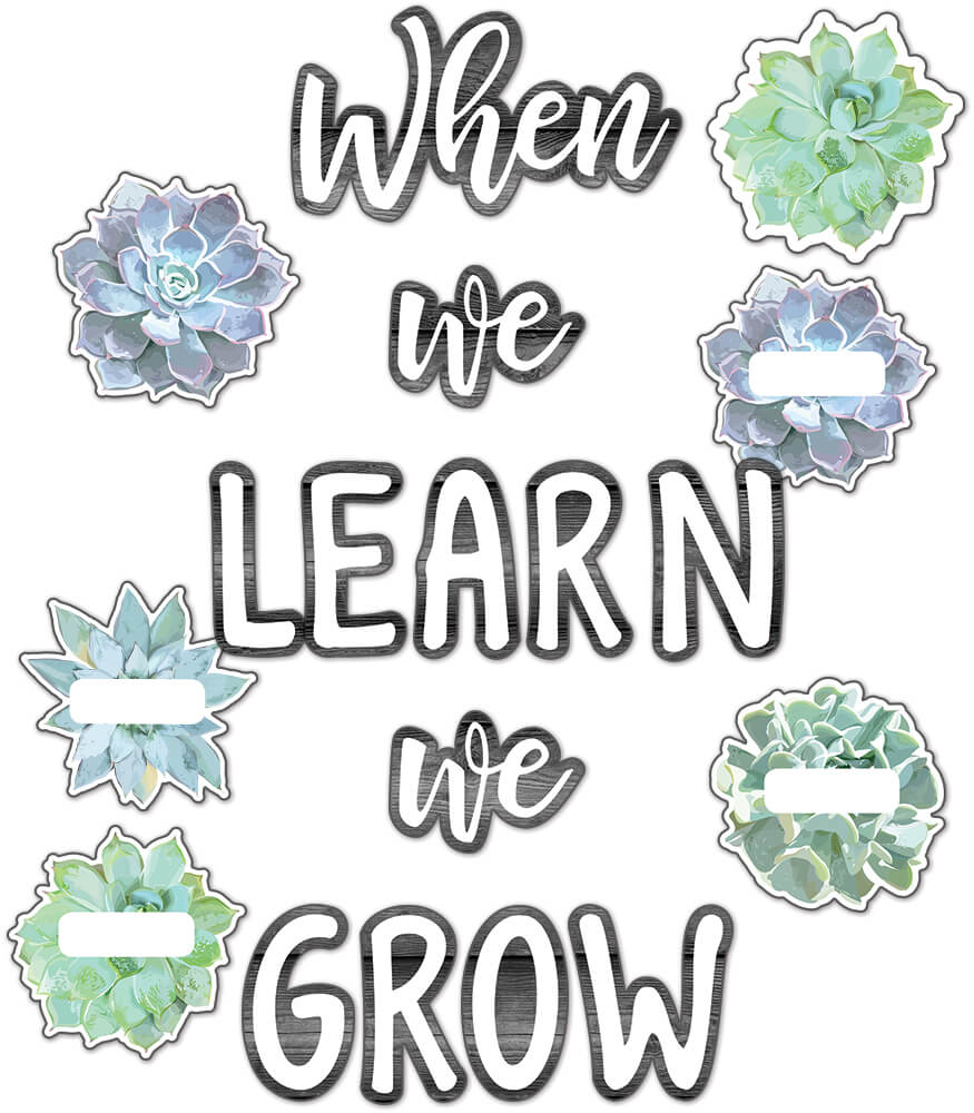 Simply Stylish When We Learn We Grow Bulletin Board Set Product Image