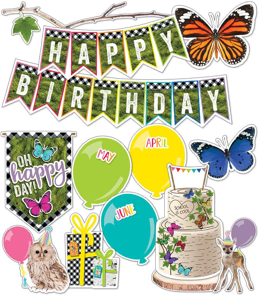 Woodland Whimsy Birthday Mini Bulletin Board Set Product Image