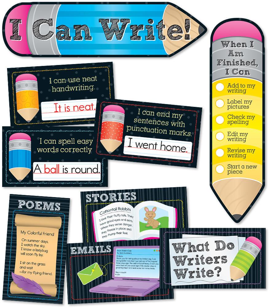 I Can Write! Mini Bulletin Board Set Product Image