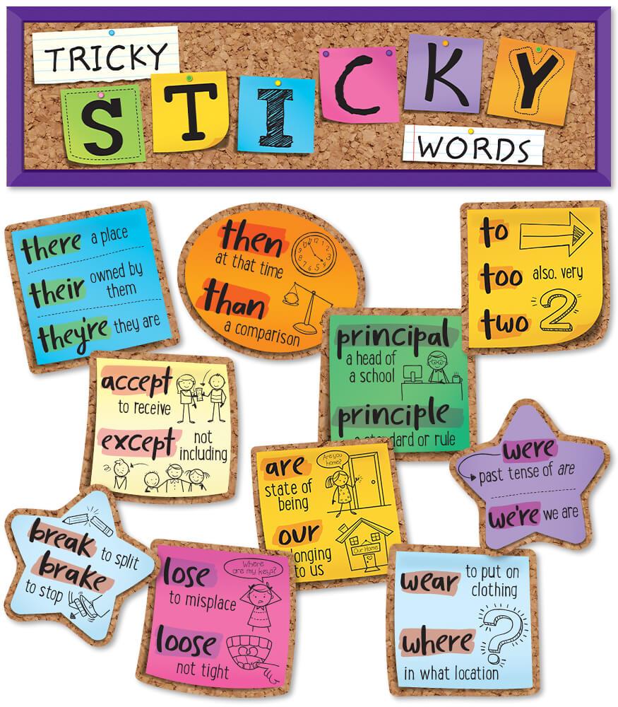 Tricky Sticky Words Mini Bulletin Board Set Product Image