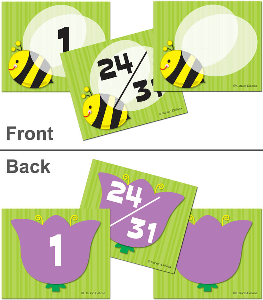 Bee/Flower Calendar Cover-up Cut-Outs