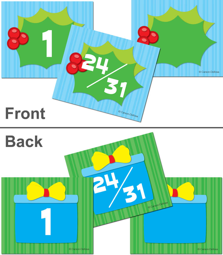 Holly Gift Calendar Cover-up Cut-Outs Product Image