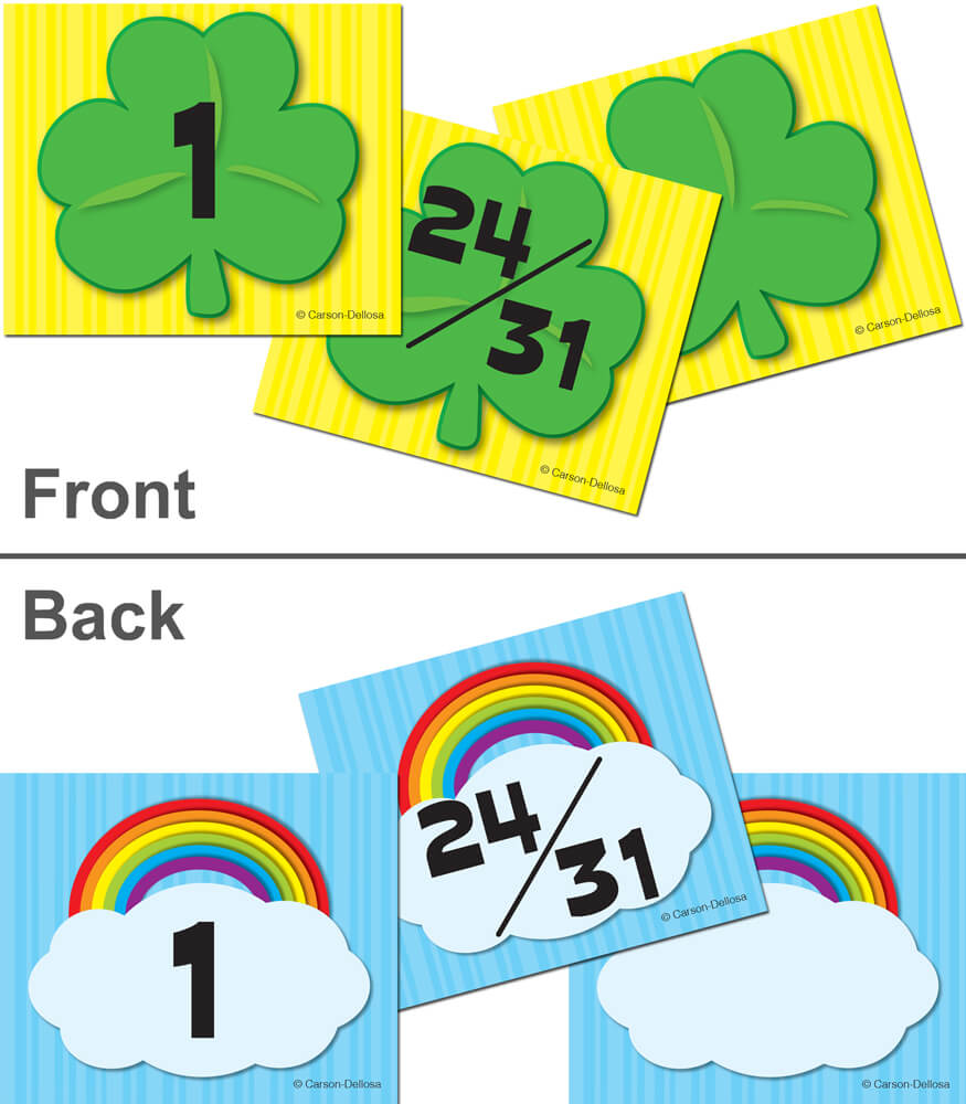 Shamrock/Rainbow Calendar Cover-up Cut-Outs Product Image