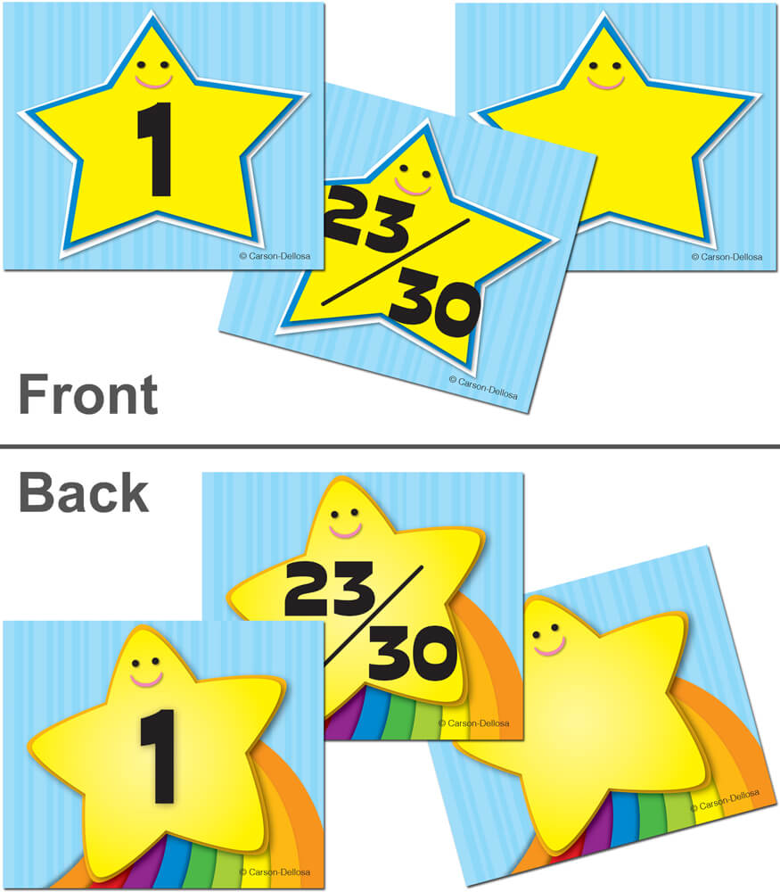 Star/Rainbow Star Calendar Cover-up Cut-Outs Product Image