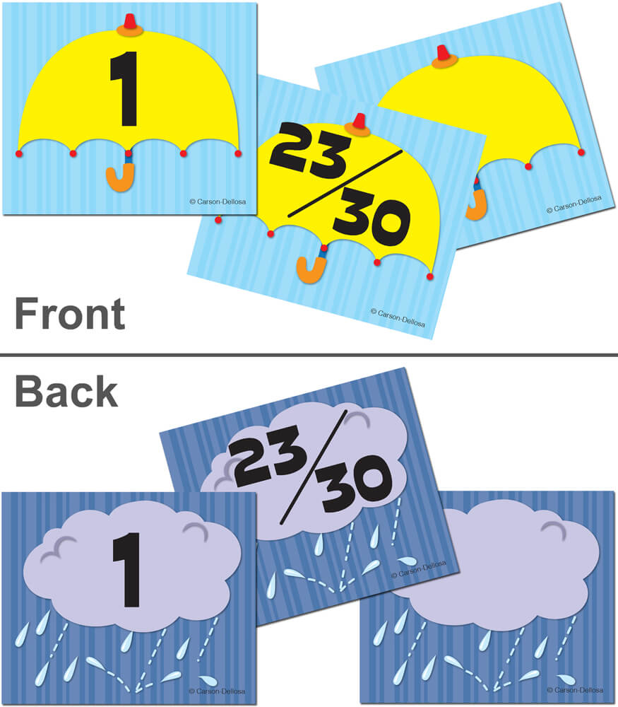 Umbrella/Cloud Calendar Cover-up Cut-Outs