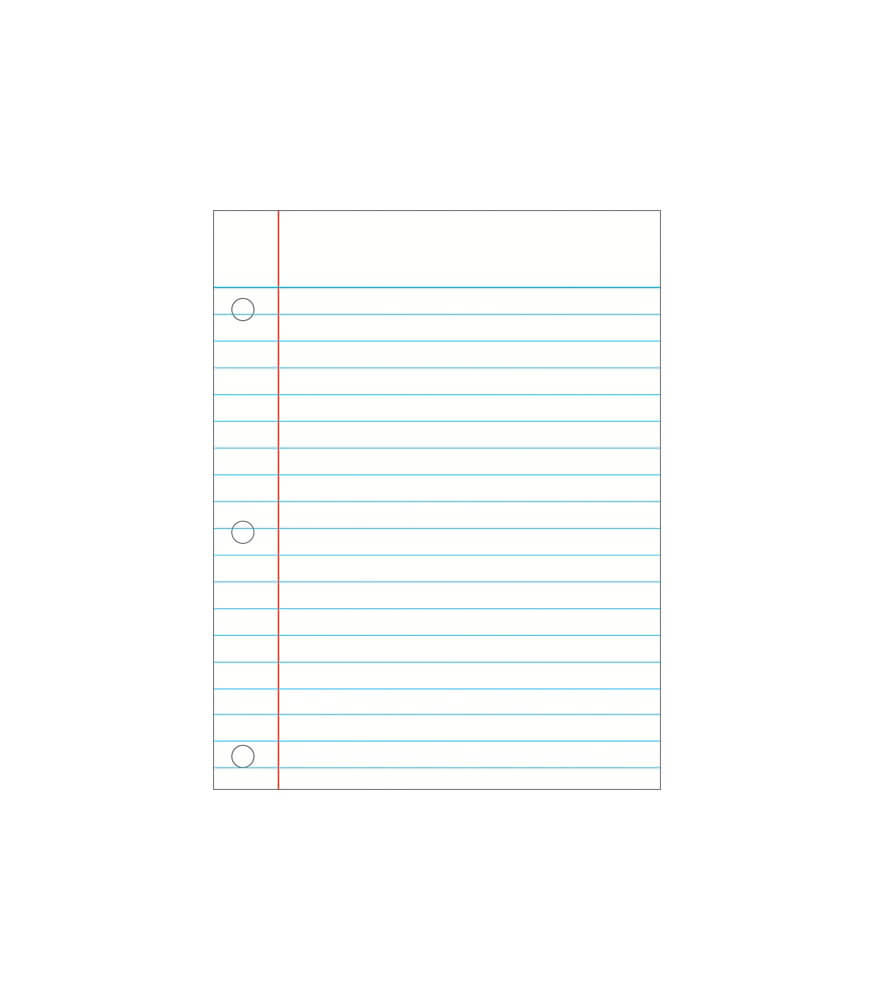 Notebook Paper Chart Product Image
