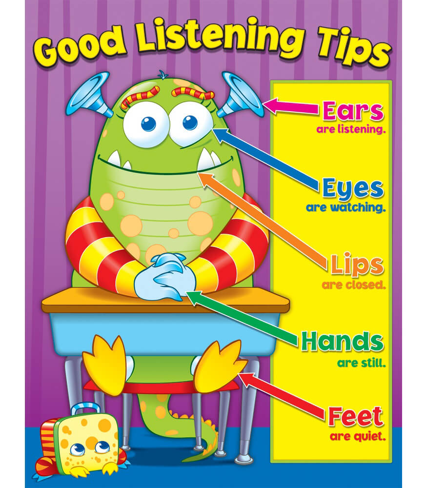 Good Listening Tips Chart Product Image