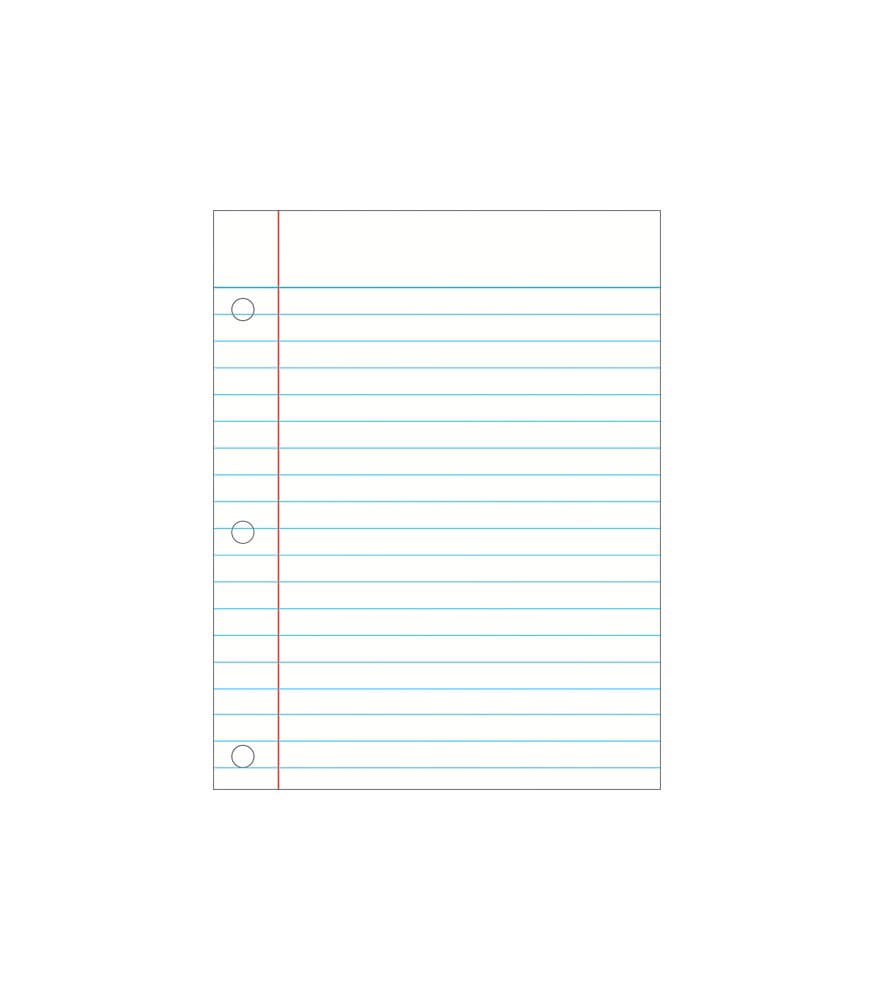 Write-on/Wipe-off Notebook Paper Chart Product Image