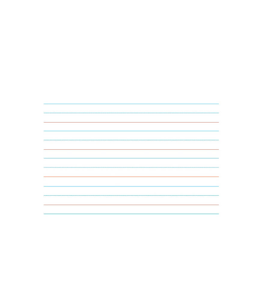 Handwriting Paper Chart Product Image