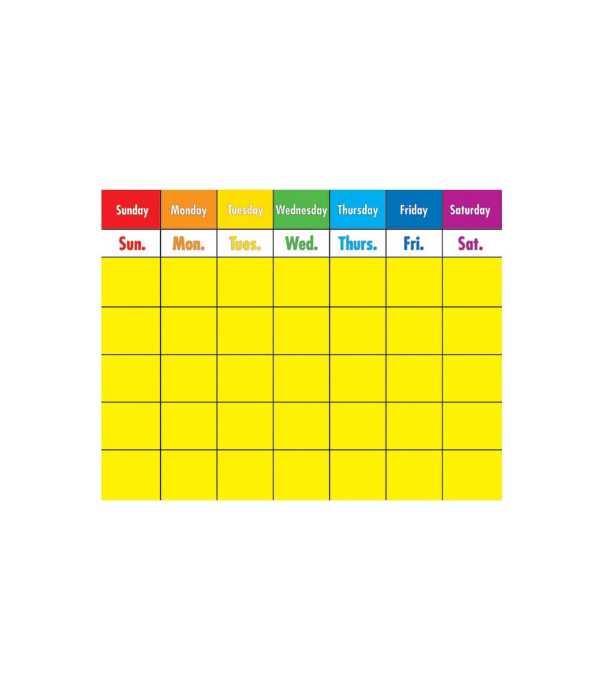 Write-on/Wipe-off Colorful Calendar Chart Product Image