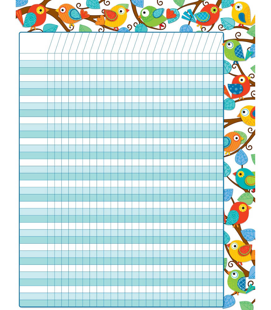 Classroom Decoration Charts For Kids : Boho birds incentive chart grade pk carson dellosa