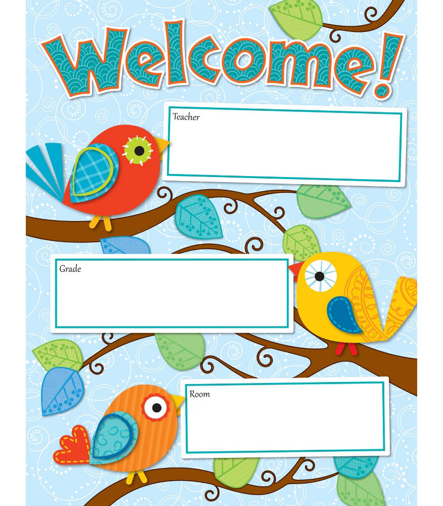 Boho Birds Welcome Chart Product Image