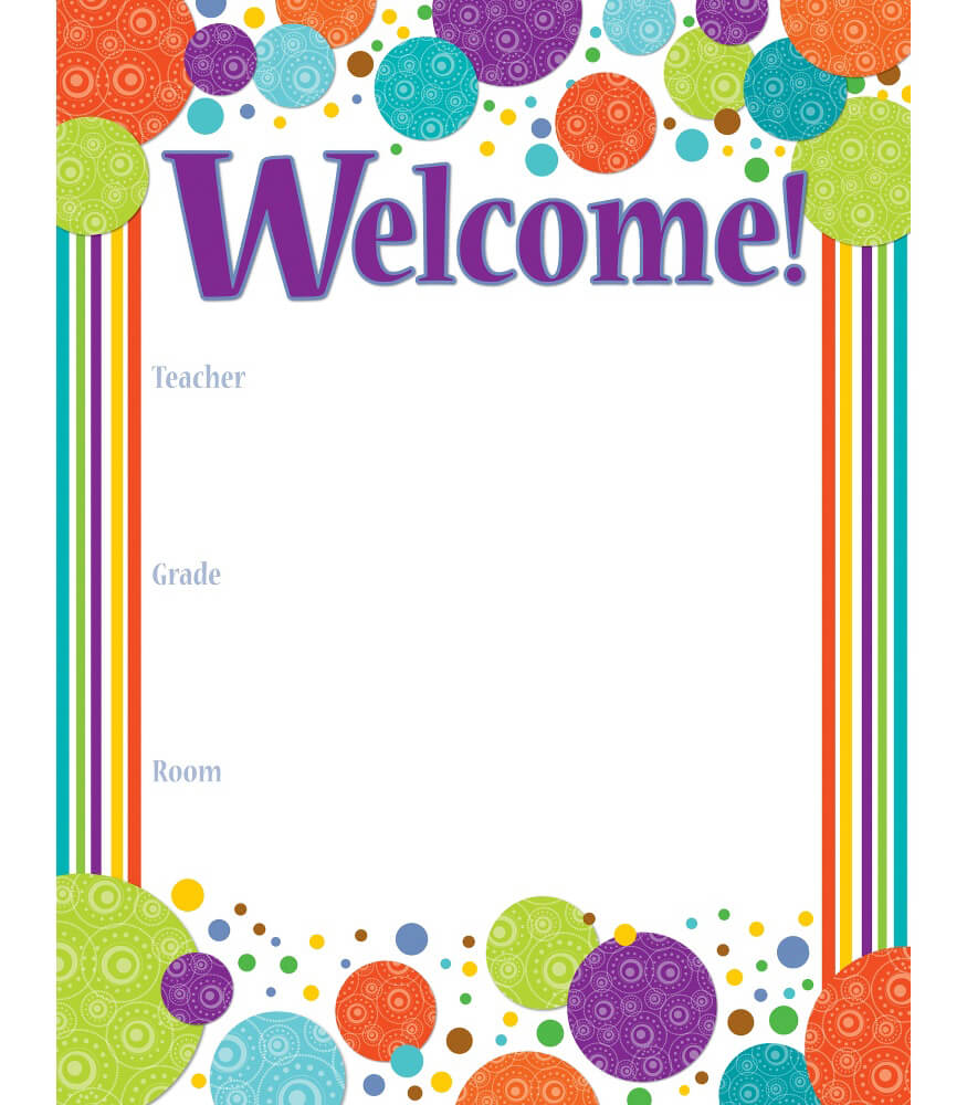 Welcome Charts For Classroom Decoration ~ Calypso welcome chart grade pk