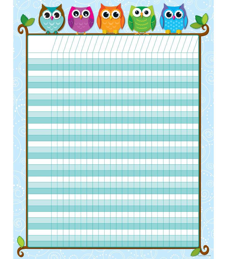 Colorful Owls Incentive Chart Product Image
